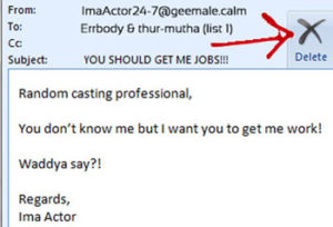 Voice Over Marketing Email Casting Directors